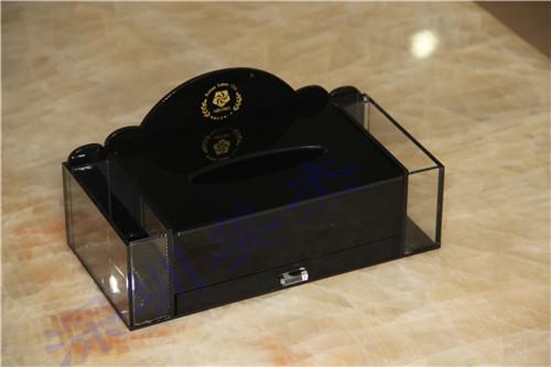 黑色高档纸巾盒,找深圳美杰加工最优惠