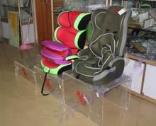 有机玻璃安全座椅展示架