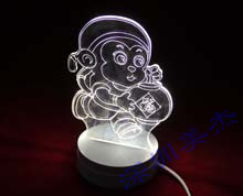 有机玻璃3D视觉台灯定做